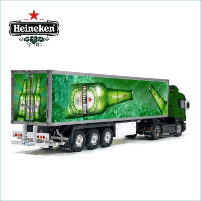 Tamiya 56319 56302 Heineken Sponsor Beer Trailer Reefer Semi Box Huge Side Decals Stickers Kit
