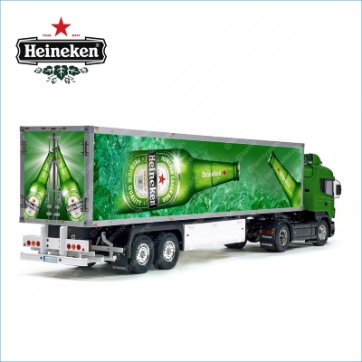 Tamiya 56319 56302 Heineken Sponsor Lager Beer Trailer Reefer Semi Box Huge Side Decals Stickers Set