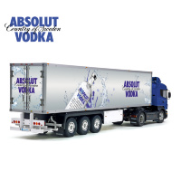 Tamiya 56319 56302 Absolut Vodka Reefer Semi Box Trailer Side Decals Stickers Kit