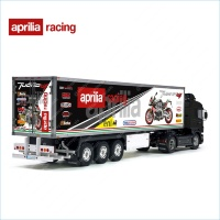 Tamiya 56319 56302 Aprilia Tuono V4 Racing Trailer Reefer Semi Box Huge Side Stickers Decals Kit