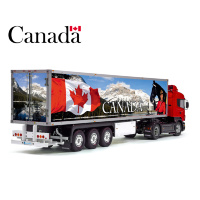 Canada Flag Tamiya 56319 56302 Patriotic Reefer Semi Box Trailer Side Decals Stickers Kit