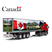 The Best Country Canada Flag Tamiya 56319 56302 Patriotic Reefer Semi Box Trailer Side Huge Decals Stickers Set