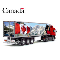 Patriotic CANADA Flag Tamiya 56319 56302 Reefer Semi Box Trailer Side Huge Decals Stickers Set