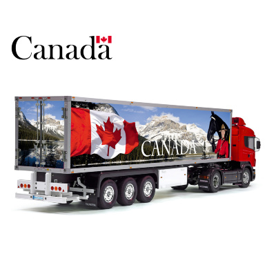 Patriotic CANADA Flag Tamiya 56319 56302 Reefer Semi Box Trailer Side Huge Decals Stickers Kit