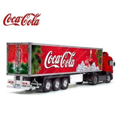 Tamiya 56319 56302 Coca-Cola Christmas Reefer Semi Box Trailer Big Side Decals Stickers Set