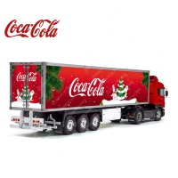 Tamiya 56319 56302 Coca-Cola Christmas Snowmans Reefer Semi Box Trailer Big Side Decals Stickers Set