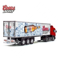 Coors Light Beer Tamiya 56319 56302 Trailer Reefer Semi Box Huge Side Decals Stickers Set