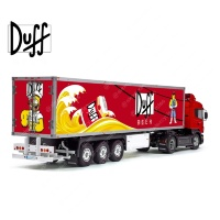 Simpsons DUFF Beer Tamiya 56319 56302 Trailer Reefer Semi Box Huge Side Decals Stickers Set