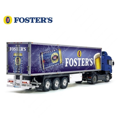 Tamiya 56319 56302 Trailer Reefer Semi Box Huge Side Foster's Australian Beer Decals Stickers Set