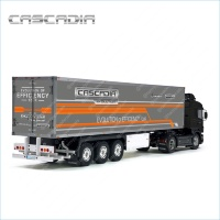 Tamiya 56319 56302 The Freightliner CASCADIA T Daimler ruck Trailer Reefer Semi Box Huge Side Decals Stickers Kit