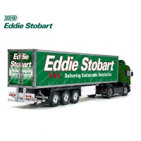 Eddie Stobart Delivering Sustainable Distribution Tamiya 56319 56302 Trailer Reefer Semi Box Huge Side Decals Stickers Set