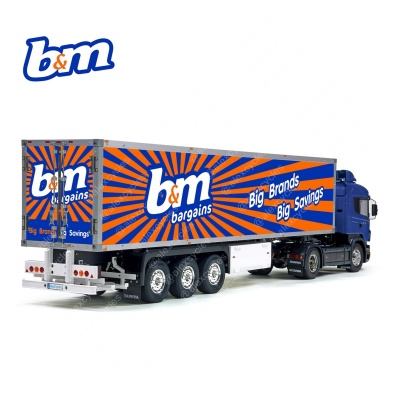 Tamiya 56319 56302 b&m bagrains Big Brands Savings Trailer Reefer Semi Box Huge Side Decals Stickers Kit