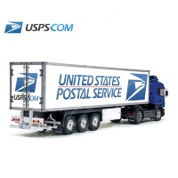 Tamiya 56319 56302 USPS USA Main Post Trailer Reefer Semi Box Huge Side Decals Stickers Set