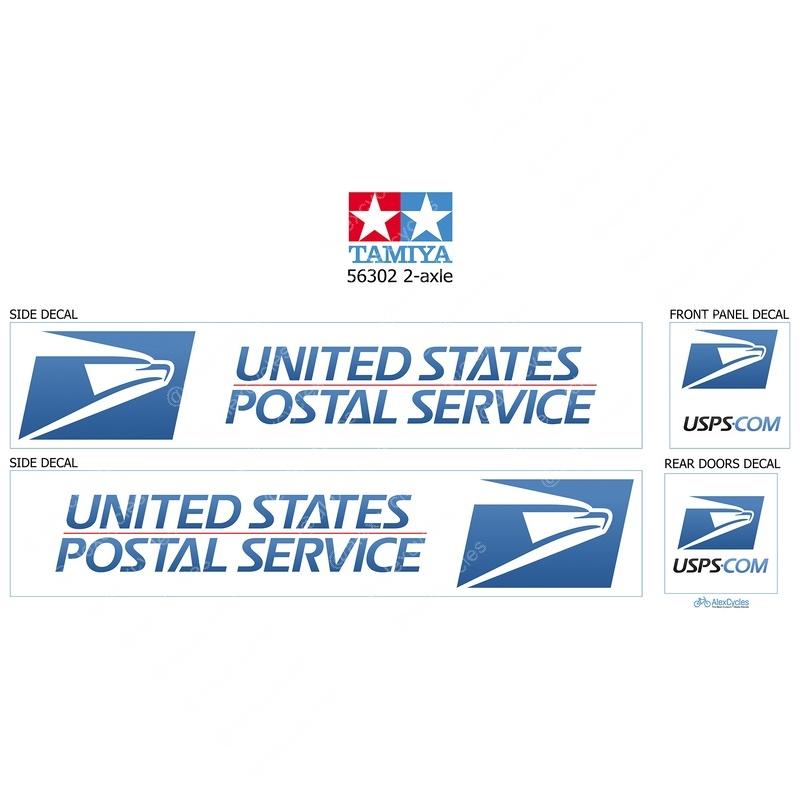 Tamiya 14th échelle 56319 Truck Reefer BOX TRAILER decals autocollant Post FedEx cadeau