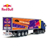 Tamiya 56319 56302 RedBull KTM Factory Racing Energy Drink Trailer Reefer Semi Box Huge Side Decals Stickers Kit
