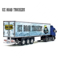 Tamiya 56319 56302 ICE ROAD Truckers Movie Trailer Reefer Semi Box Huge Side Decals Stickers Set