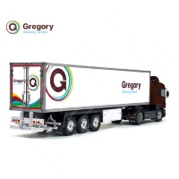 Tamiya 56319 56302 Gregory Delivering Winners UK Post Trailer Reefer Semi Box Huge Side Decals Stickers Kit