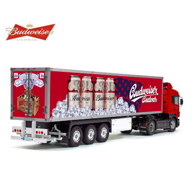 Tamiya 56319 56302 America Budweiser Budvar Trailer Reefer Semi Box Huge Side Decals Stickers Kit