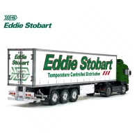 Tamiya 56319 56302 Eddie Stobart Temperature Controlled Distribution Trailer Reefer Semi Box Huge Side Decals Stickers Set