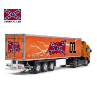 Tamiya 56319 56302 GENERAL LEE DUKE OF HAZZARD Movie Trailer Reefer Semi Box Huge Side Decals Stickers Set