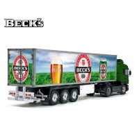 Tamiya 56319 56302 BECK'S Germany Beer Trailer Reefer Semi Box Huge Side Decals Stickers Set