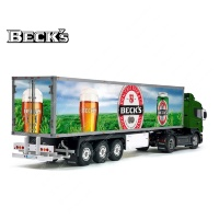 Tamiya 56319 56302 BECK'S BECKS Beer Trailer Reefer Semi Box Huge Side Decals Stickers Kit