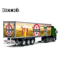 Tamiya 56319 56302 BECK'S Germany Imported Beer Trailer Reefer Semi Box Huge Side Decals Stickers Kit