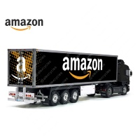 Tamiya 56319 56302 Amazon Black Trailer Reefer Semi Box Huge Side Decals Stickers Kit