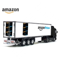 Tamiya 56319 56302 Amazon Prime Trailer Reefer Semi Box Huge Side Decals Stickers Kit