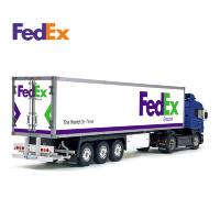 FedEx Ground Post Tamiya 56319 56302 Reefer Box Trailer Decals Stickers Set
