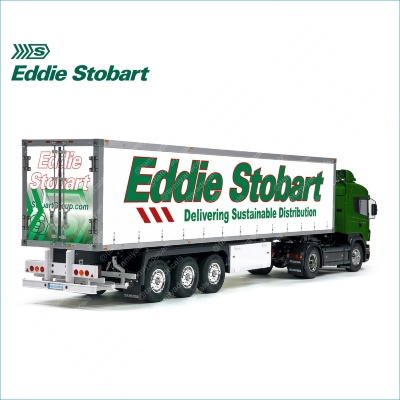 Tamiya 56319 56302 Eddie Stobart Delivering Sustainable Distribution Trailer Reefer Semi Box Huge Side Decals Stickers Set