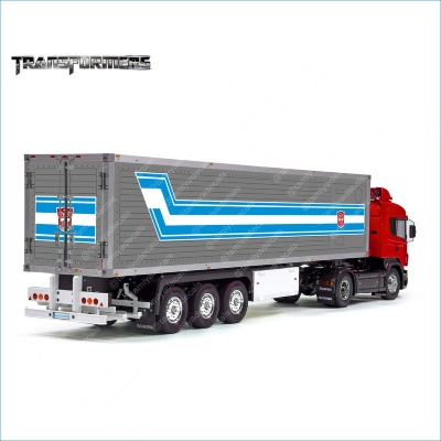 Tamiya 56319 56302 TRANSFORMERS Logo Movie Original Trailer Reefer Semi Box Huge Side Decals Stickers Kit