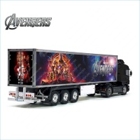 Tamiya 56319 56302 Marvel Avengers Movie Style Trailer Reefer Semi Box Huge Side Decals Stickers Kit