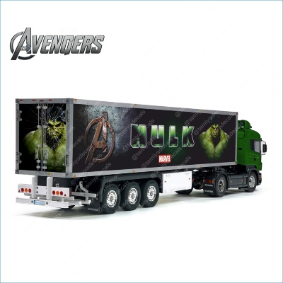 Tamiya 56319 56302 Marvel Avengers HULK Movie Style Trailer Reefer Semi Box Huge Side Decals Stickers Kit