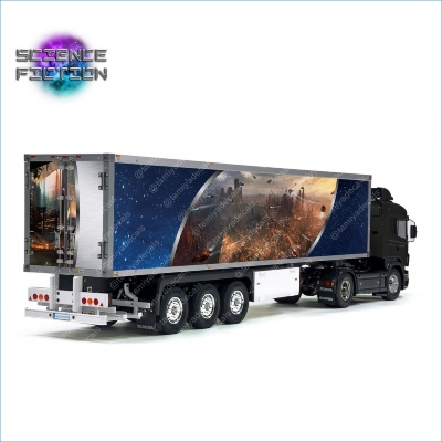 Tamiya 56319 56302 Science Fiction Phantasy Style sci-fi SF Reefer Semi Box Trailer Side Big Decals Stickers Kit 1