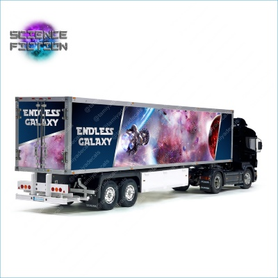 Tamiya 56319 56302 Science Fiction Galaxy Phantasy sci-fi SF Reefer Semi Box Trailer Side Big Decals Stickers Set