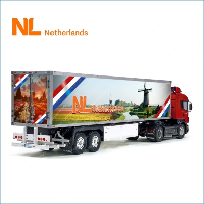 Patriotic NL The Netherlands Flag Holland Tamiya 56319 56302 Reefer Semi Box Trailer Side Huge Decals Stickers Kit